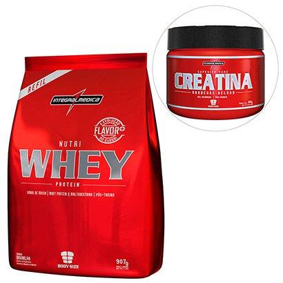 Kit Nutri Whey Protein 907 g Refil + Creatina Reload Hardcore - IntegralMédica