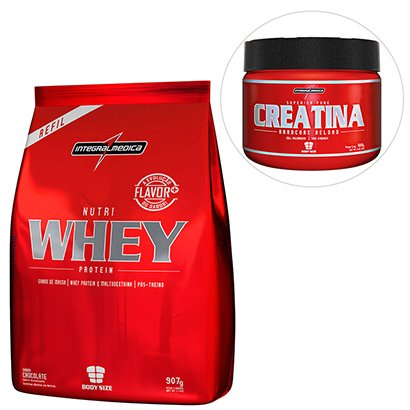 Kit Nutri Whey Protein 907 g Refil + Creatina Reload Hardcore - IntegralMédica
