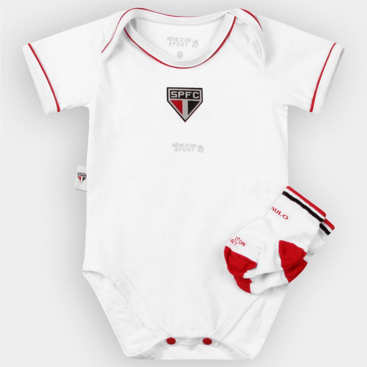 3fdb9d1a343 Kit São Paulo Bebê Body Vivos e Meia - Compre Agora
