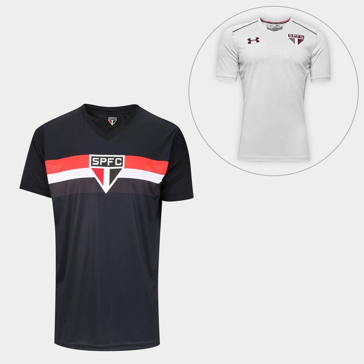 238895ff1c4 Kit São Paulo Camisa Goleiro 2005 s n° + Camisa de Treino 17 18 Under  Armour Masculino - Compre Agora