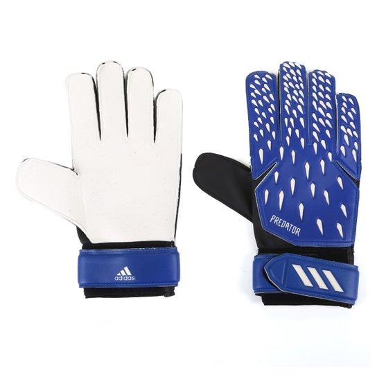 Luva de Goleiro Adidas Predator Training - Azul Royal+Branco