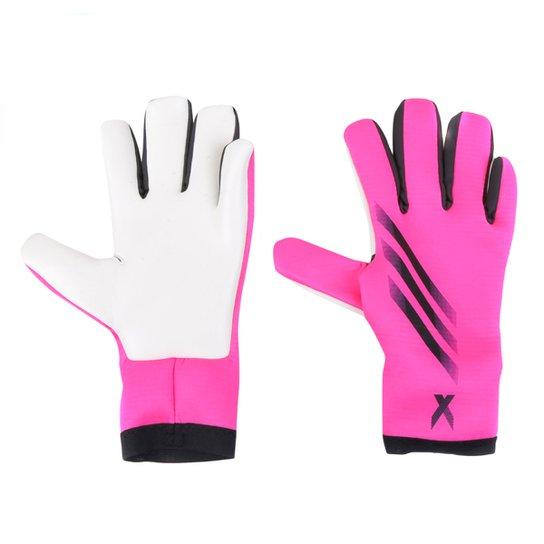 Luva de Goleiro Adidas X Training - Rosa+Branco