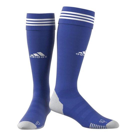 Meião Adidas Adisocks Knee - Azul+Branco