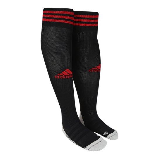 Meião Adidas Aditop 18 - Preto+Vermelho