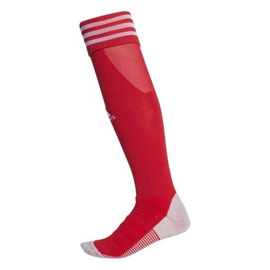 Meião Adidas Aditop 18 - Vermelho+Branco