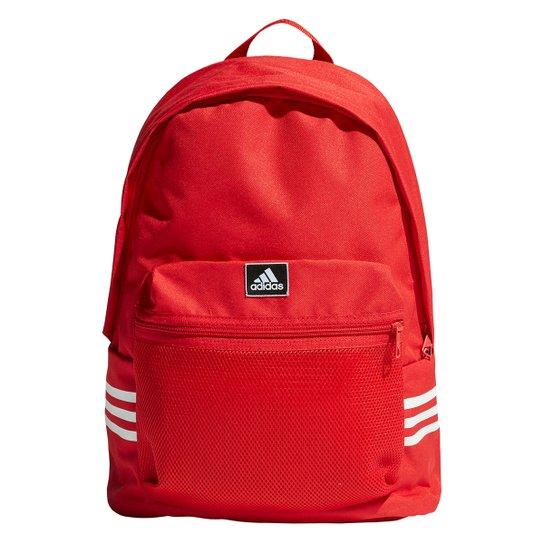 Mochila Adidas Clas 3 Listras - Vermelho+Preto