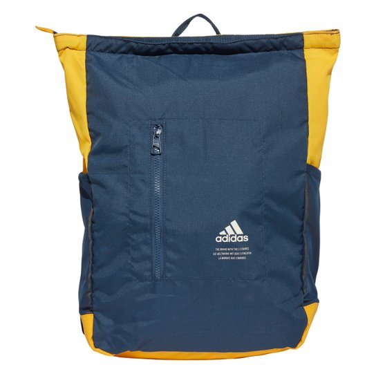 Mochila Adidas Classic Top-Zip - Azul+amarelo
