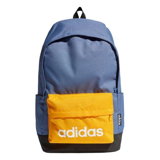 Mochila Adidas Clássica Grande - Azul+amarelo