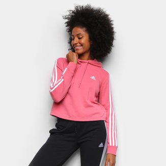 Moletom Adidas Cropped Speed 3 Listras Feminino