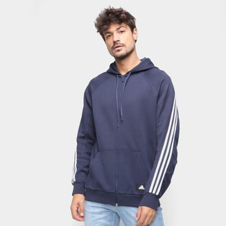 Moletom Adidas Doubleknit Meio Zíper Feminino