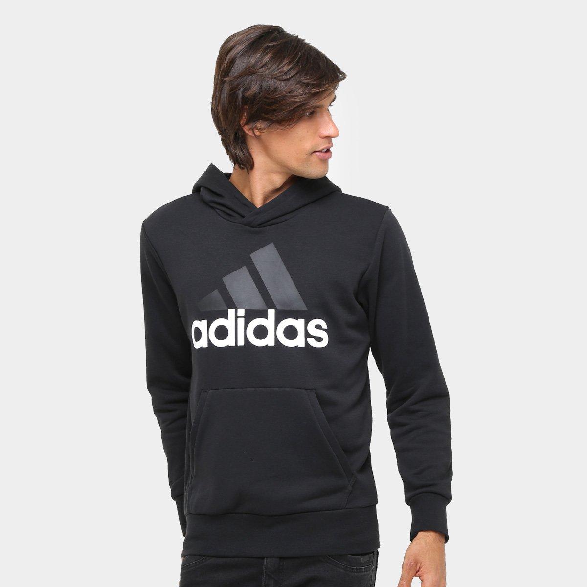 a8f93524f0f Moletom Adidas Essentials Linear Pullover French Terry C  Capuz - Compre  Agora