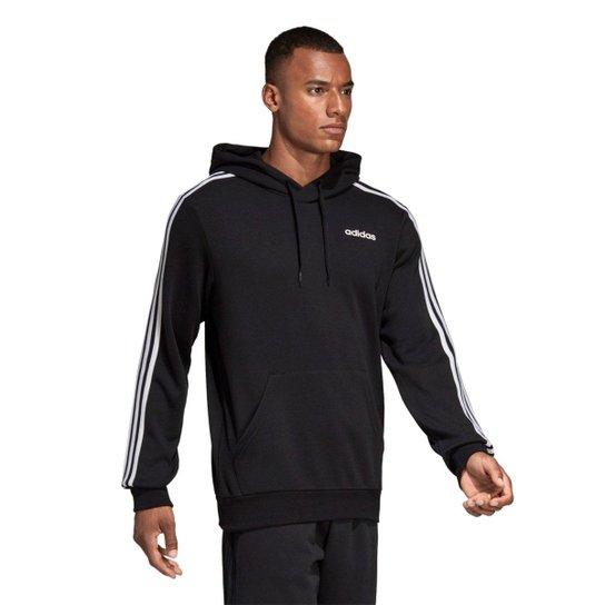 Moletom Adidas Essentials Masculino - Preto+Branco