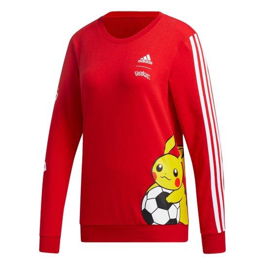 Moletom Adidas Pokemon Feminino - Vermelho+Preto