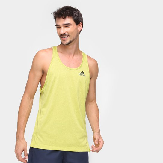 Regata Adidas Aero Prime Blue Masculina - Amarelo