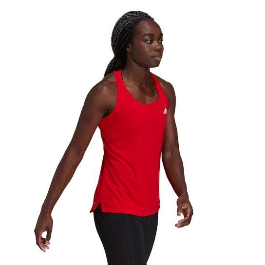 Regata Adidas D2M 3 Listras Nadador Feminina - Vermelho+Branco
