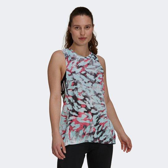 Regata Adidas Fast Aop Feminina - Azul+Rosa