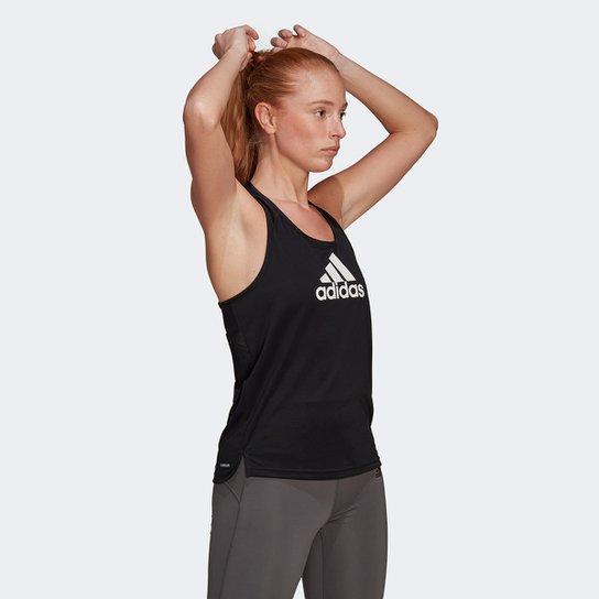 Regata Adidas Logo Feminina - Preto+Branco