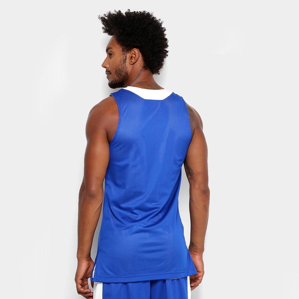 Regata Adidas Treino Reversível Dupla Face Masculina - Azul e Branco ... 0ac8cd8001976