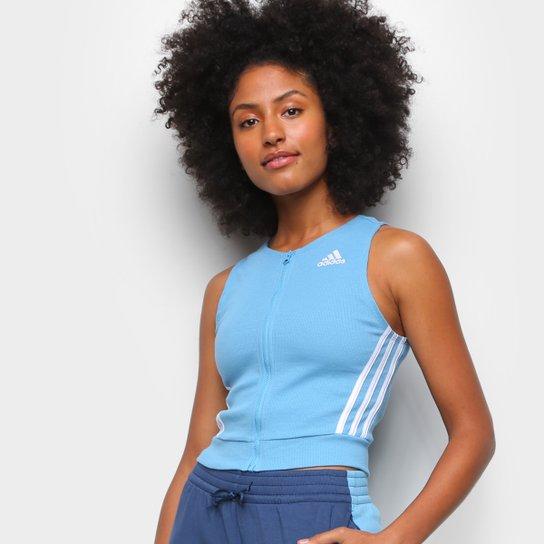 Regata Cropped Adidas Sportwear Fitted Fit Feminina - Azul