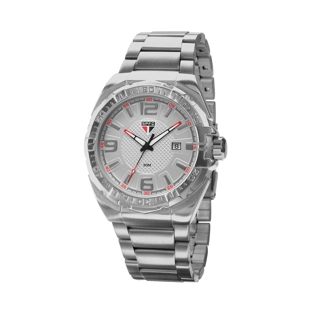 6d0f24b5c73 Relógio São Paulo Technos Metal Analógico II Calendário - Compre Agora