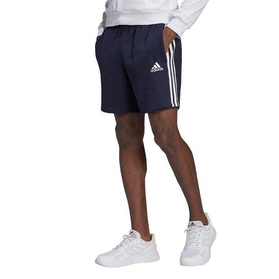 Short Adidas Causal 3 Listras Masculino - Marinho+Branco