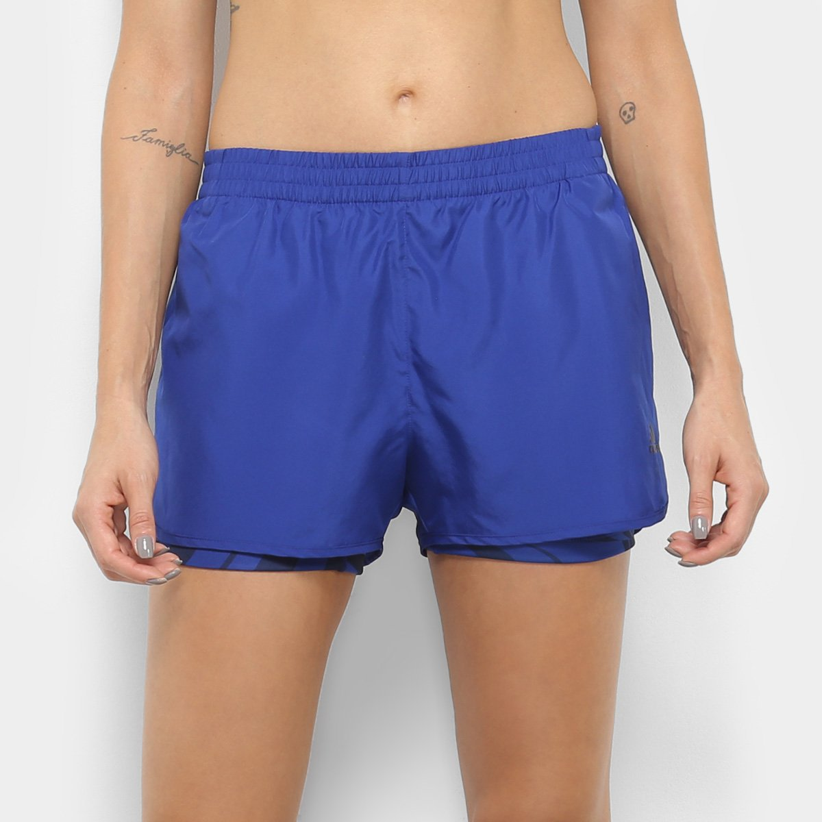 c1a18acf6 Short Adidas D2M Feminino - Azul - Compre Agora | São Paulo Mania