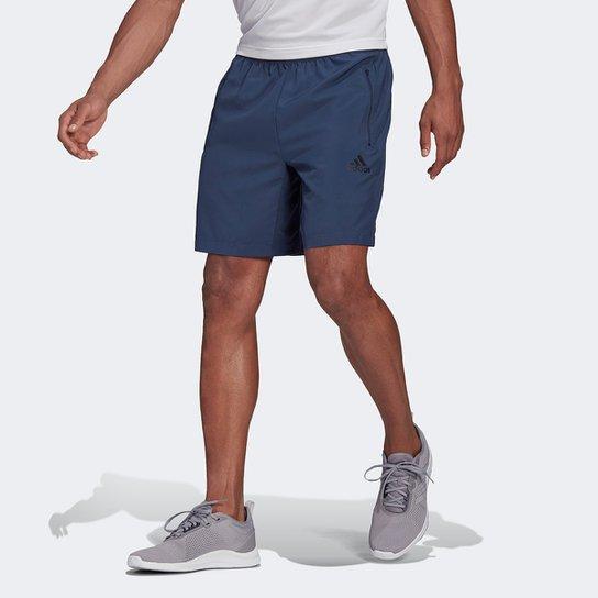 Short Adidas D2M Plano Masculino - Azul