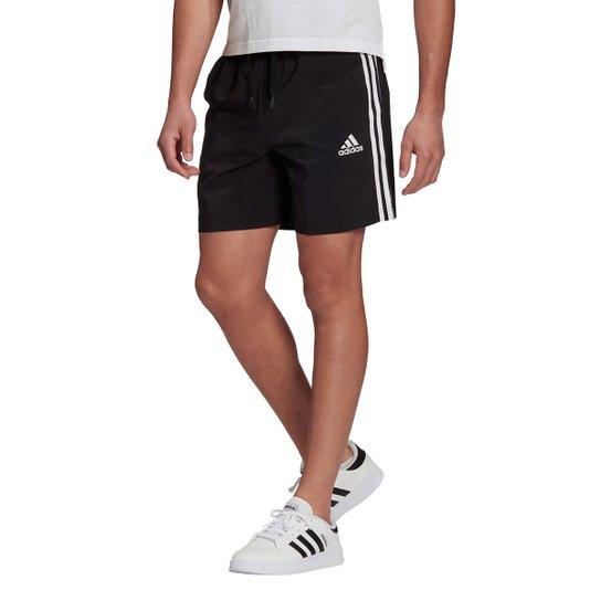 Short Adidas Essentials Chelsea Masculino - Preto+Branco