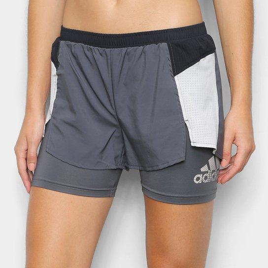 Short Adidas Innovation Feminino - Cinza