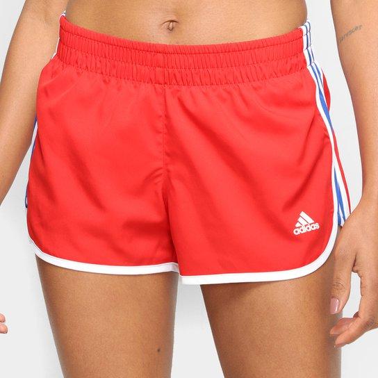Short Adidas M20 Feminino - Vermelho+Preto
