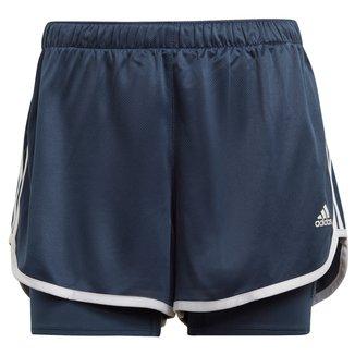Short Adidas Marathon 20 2 em 1 Feminino