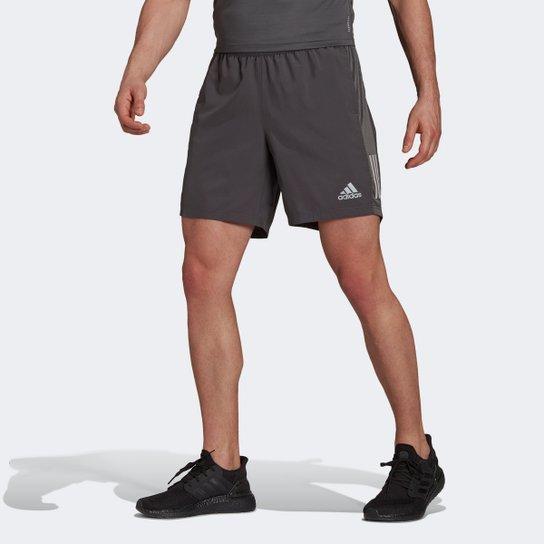 Short Adidas Own The Run Masculino - Cinza