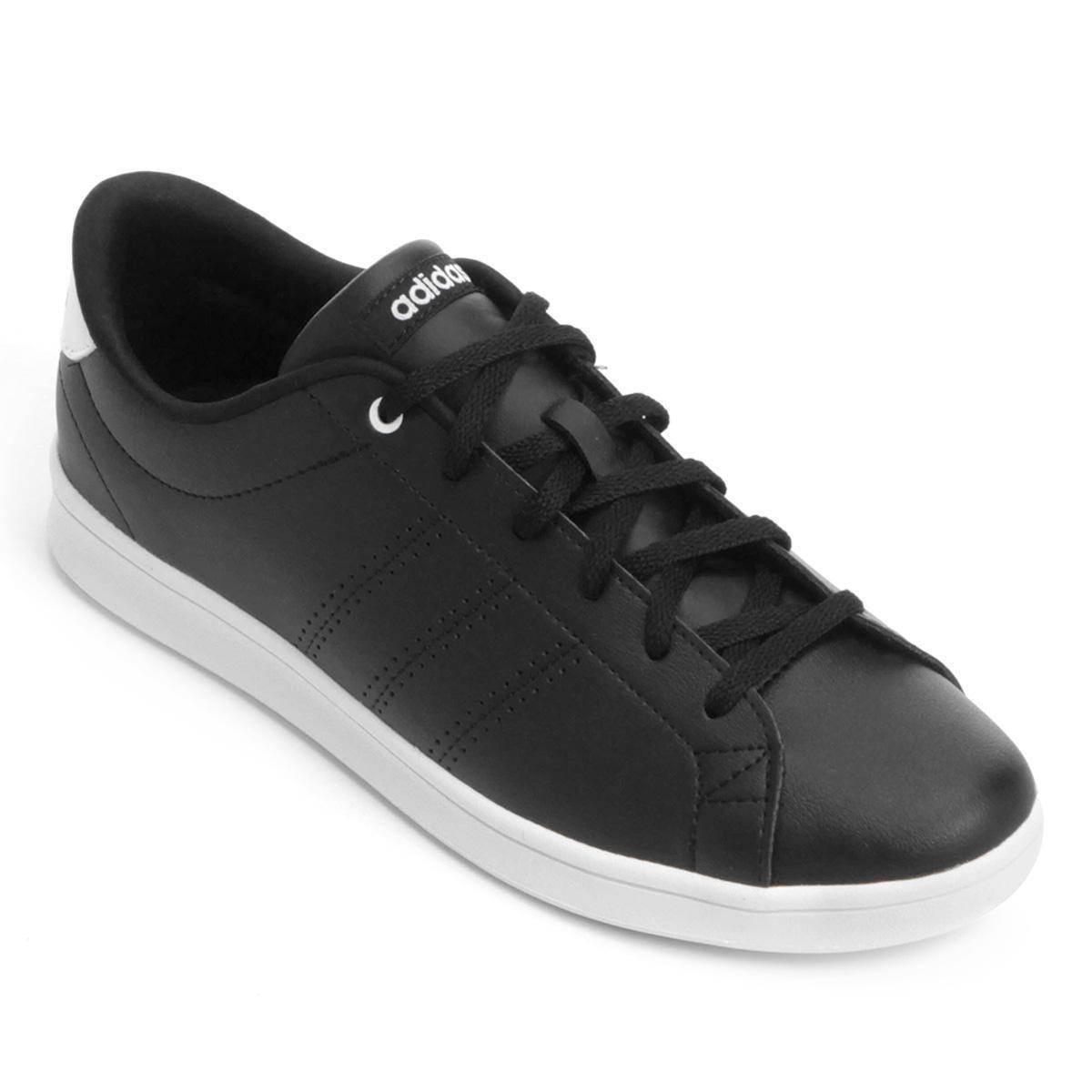 1ab35fc13d Tênis Adidas Advantage Clean Qt Feminino - Preto - Compre Agora ...