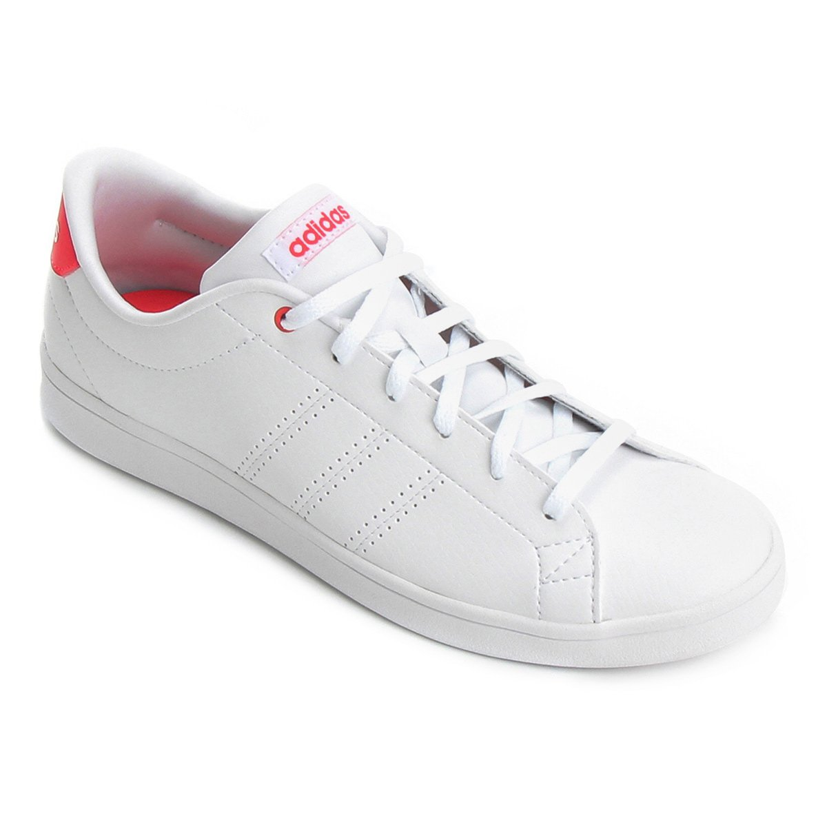 b9b34afeae2 Tênis Adidas Advantage Clean Qt Feminino - Branco e Pink - Compre Agora