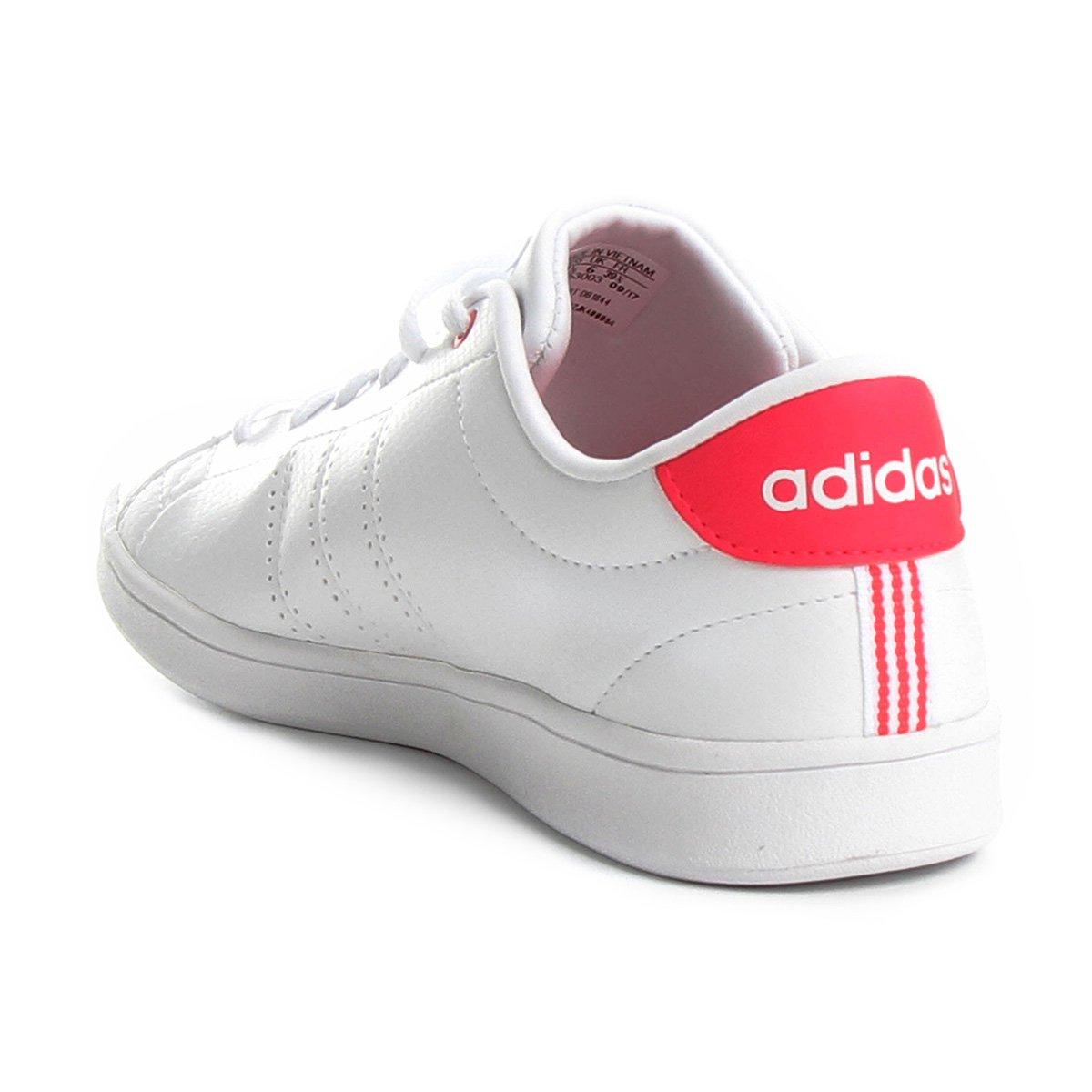 d3b9bcae0f ... Tênis Adidas Advantage Clean Qt Feminino - Branco e Pink - Compre .