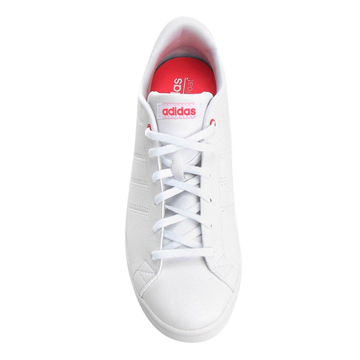 Tênis Adidas Advantage Clean Qt Feminino - Branco e Pink - Compre ... f37c14e978ed2
