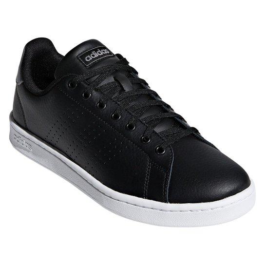 Tênis Adidas Advantage II Couro Masculino - Preto