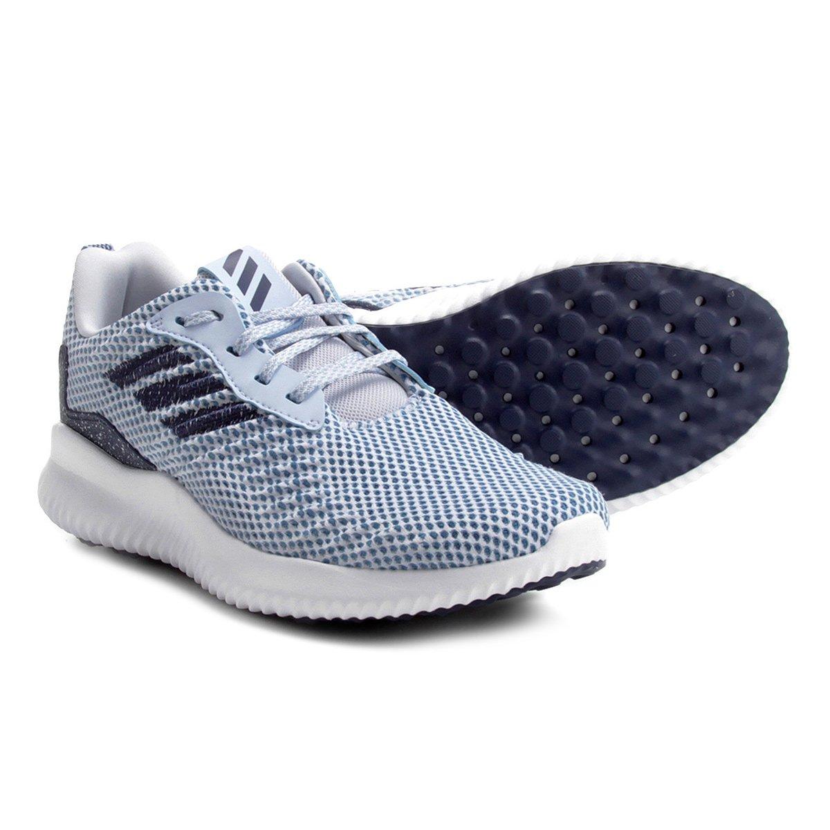9aec0a8f8ce Tênis Adidas Alphabounce Racer Feminino - Azul Claro e Marinho - Compre  Agora
