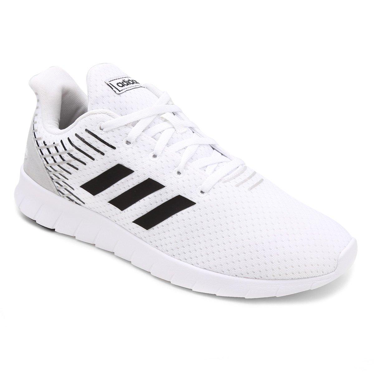 657ce52f295 Tênis Adidas Asweerun Masculino - Branco e Preto - Compre Agora ...