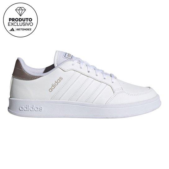Tênis Adidas Breaknet Brilho Feminino - Branco