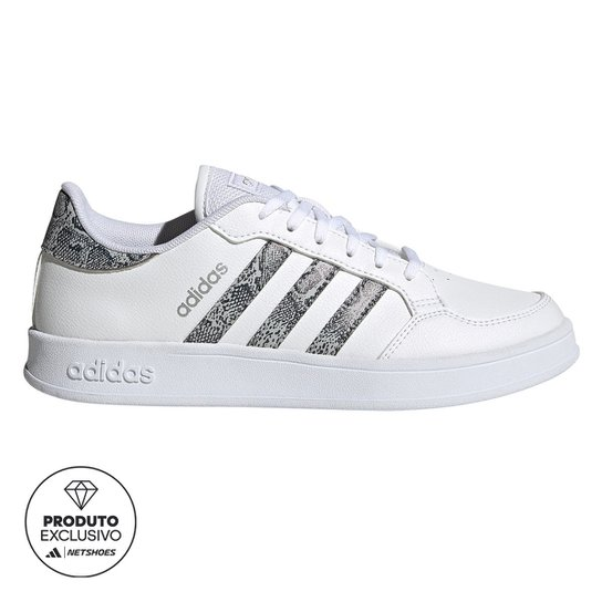 Tênis Adidas Breaknet Feminino - Branco+Cinza