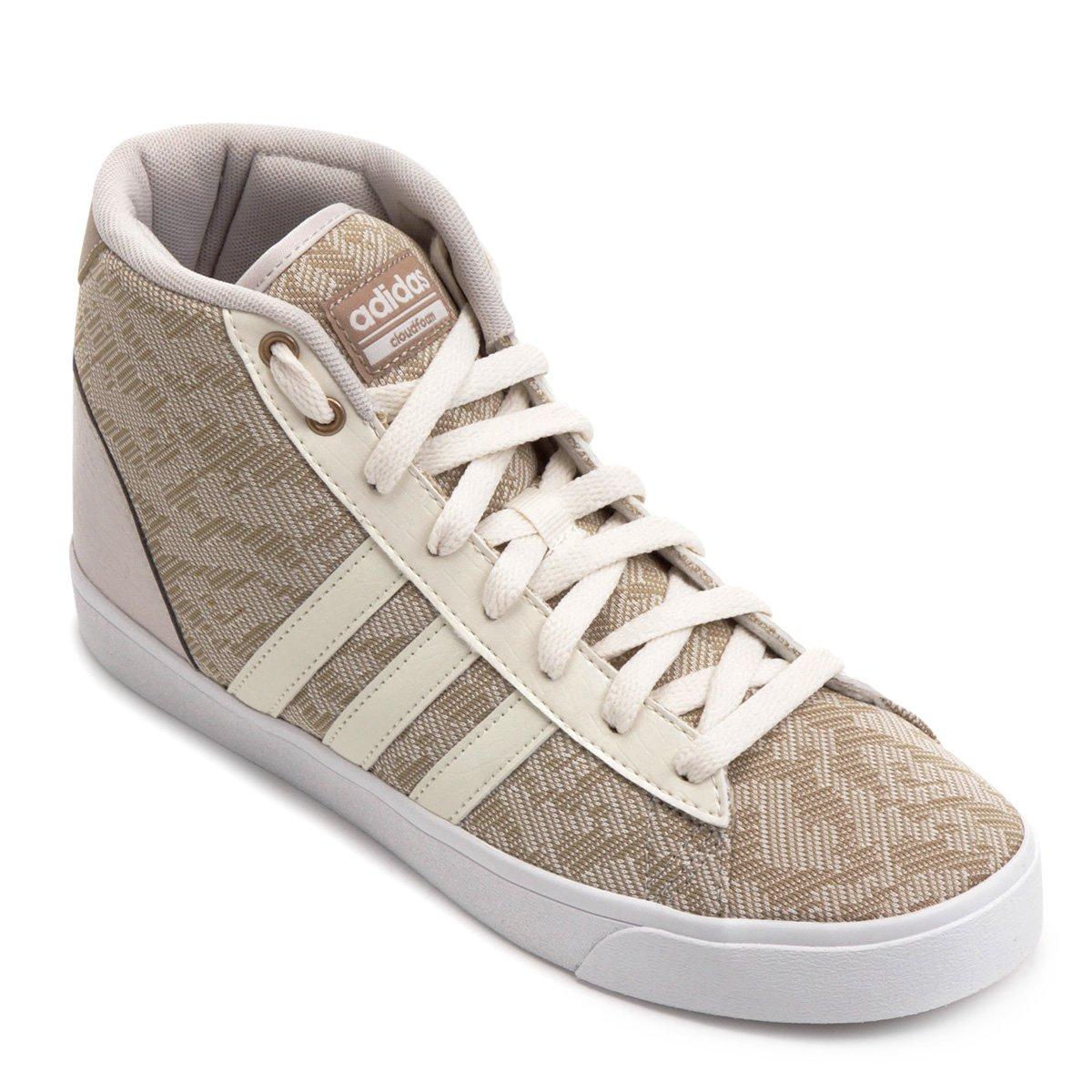 Tênis Adidas Cf Daily Qt Mid Feminino - Bege - Compre Agora  540b7f60eac52