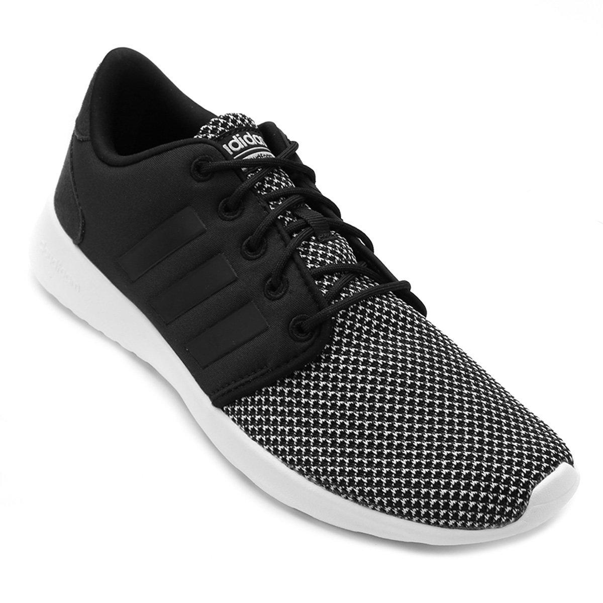 Tênis Adidas CF QT Racer Feminino - Preto - Compre Agora  8fdb87dcce4d6