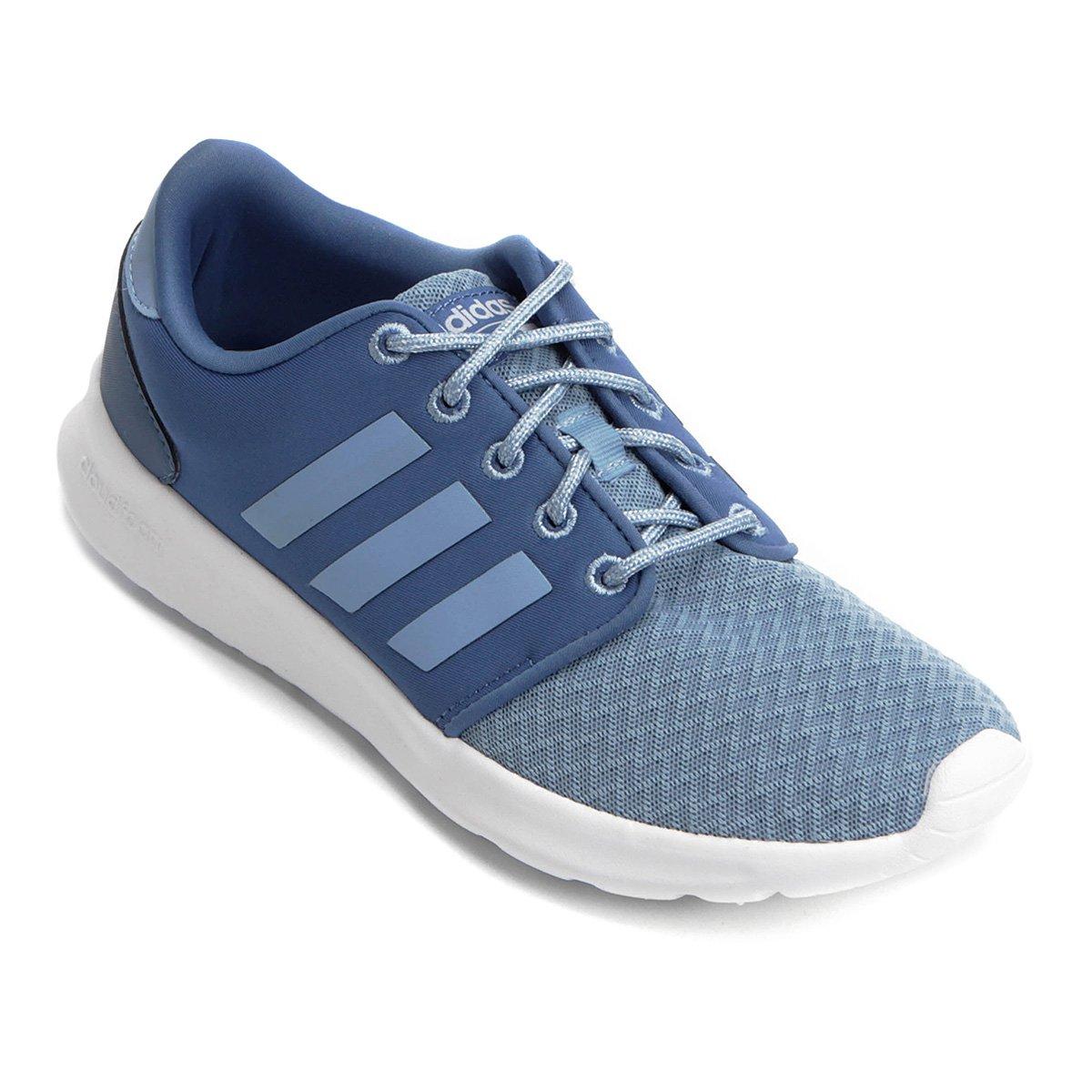 Tênis Adidas CF QT Racer Feminino - Azul - Compre Agora  216229286901e