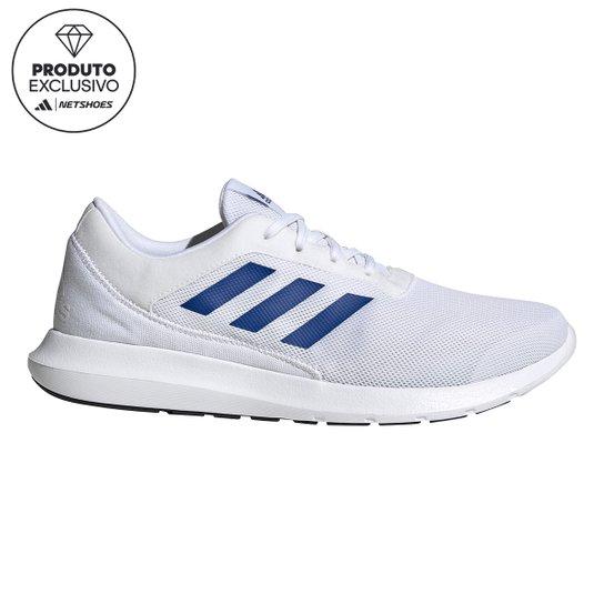 Tênis Adidas Coreracer Masculino - Branco+Azul Petróleo