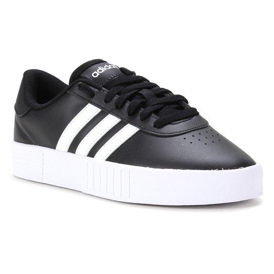 Tênis Adidas Court Bold Feminino - Preto+Branco