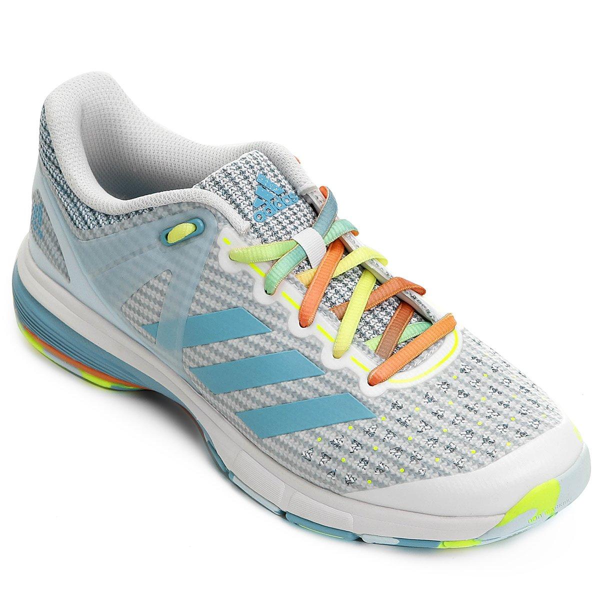 Tênis Adidas Court Stabil - Azul e Branco - Compre Agora  73d8ca82ef7