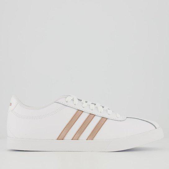 Tênis Adidas Courtset Feminino - Branco+Rosa