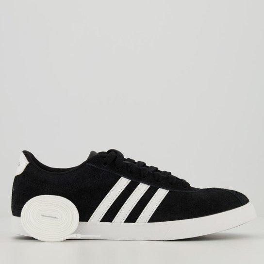 Tênis Adidas Courtset Feminino - Preto+Branco