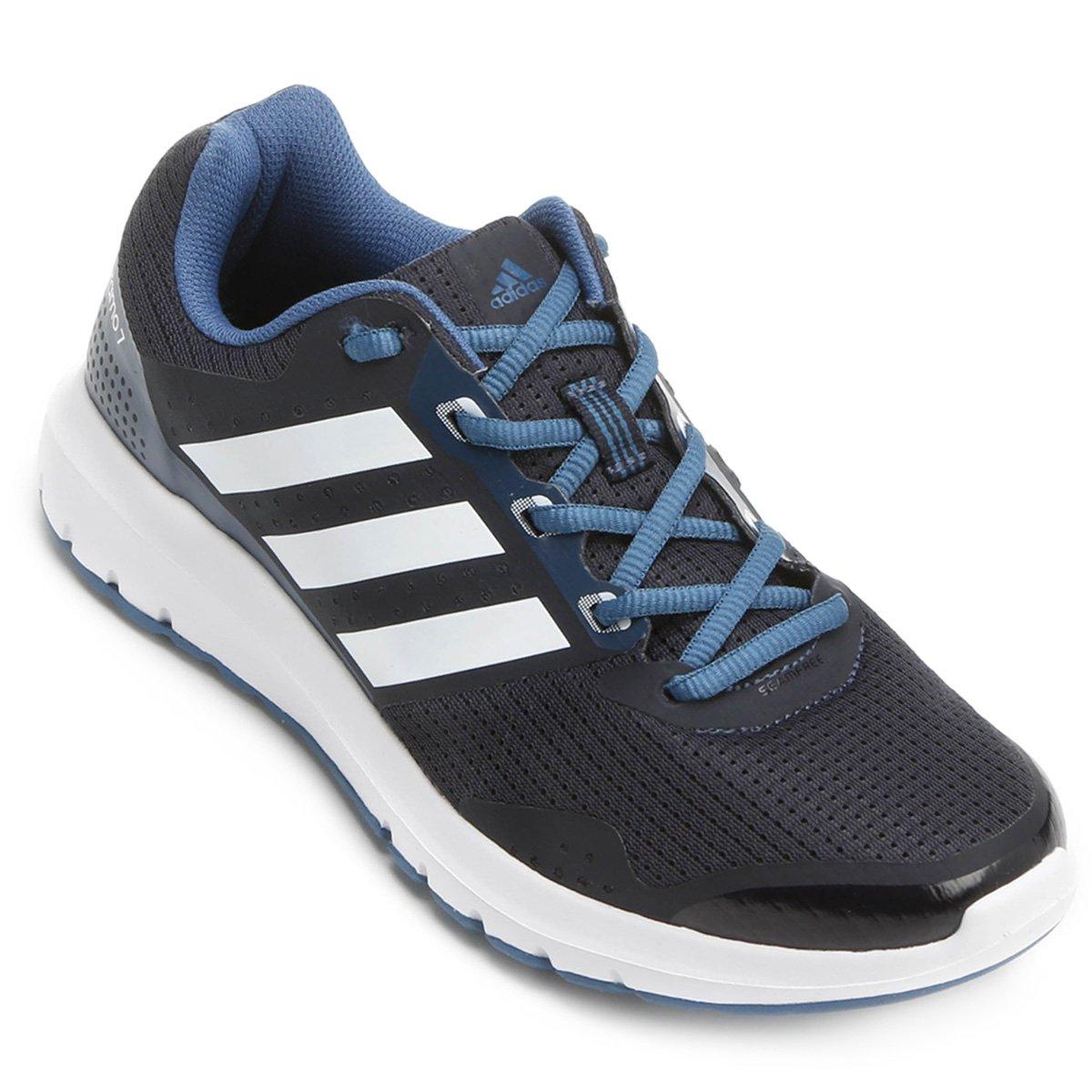 a453cc6f7e1 Tênis Adidas Duramo 7 Feminino - Preto e Azul - Compre Agora